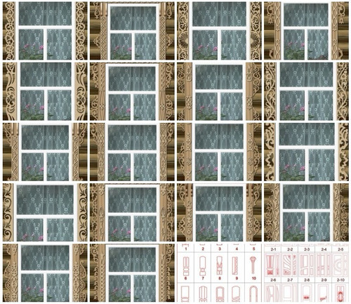 archivos .stl .dxf router o impresora 3d, puertas y ventanas