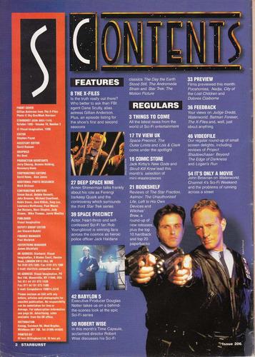archivos x gillian anderson revista starburst inglesa 1995