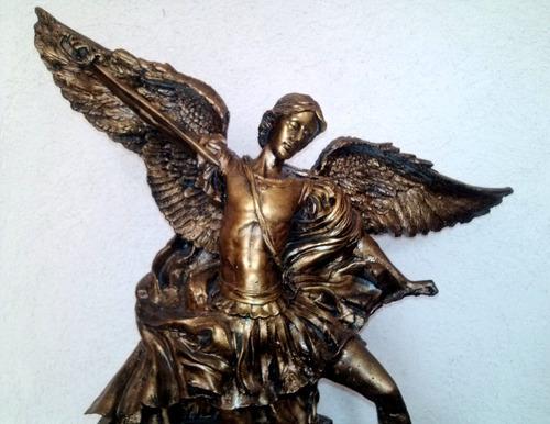 arcàngel san miguel resina dorado antiguo 62 cm