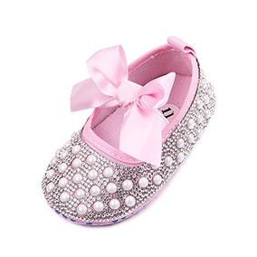 promoción especial fotos nuevas diseño exquisito Arco De Bebe Recien Nacido Bling Crystal Pearl Mary Zapatos