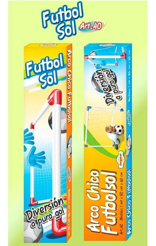 arco de futbol 100x80x60 cm juegosol art40