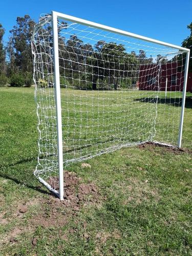 arco de fútbol 2.20 m  x 1.80 m con red