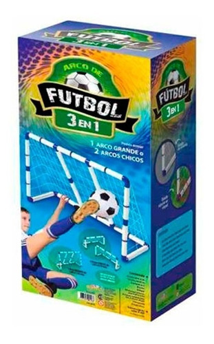 arco de fútbol 3 en 1- 1.80 x 1.20 x 0.65 mts. e. full