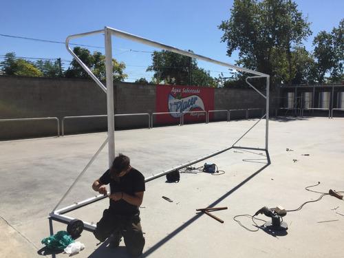 arco de fútbol de acero moviles 4 x 2