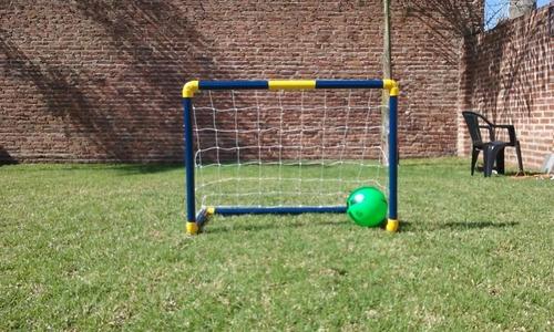 arco de futbol infantil desarmable + pelota. colores a elec.