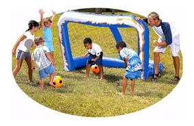 Bestway Inflable Fútbol Meta Set Soccar Net para Niños de Verano Diversión Paly Juego Juguete