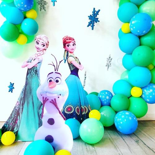 arco de globos + numero de cumpleaños tematicos decoracion