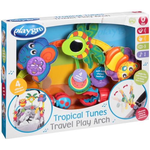 arco de juego tropical tunes travel play playgro