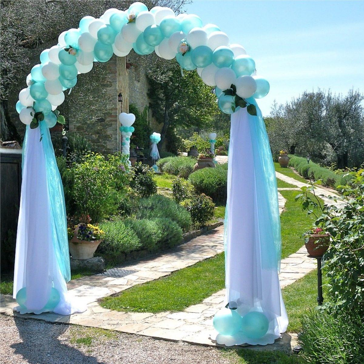 Arco De Metal Para Jardin Decoracion Eventos Globos Fiestas