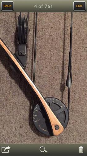 arco de poleas browning combinado madera/resinas 40 lbs usa.