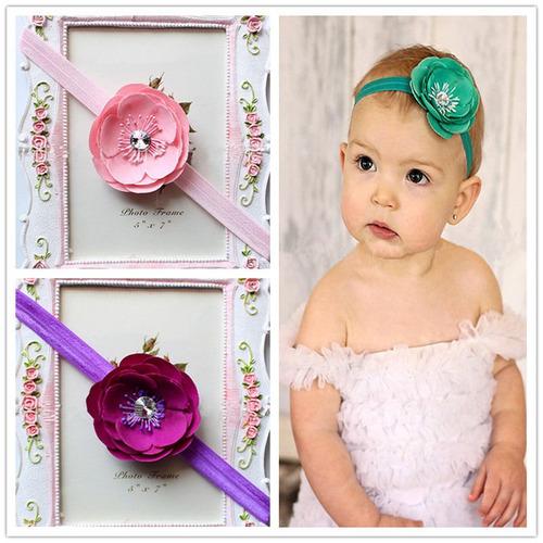 arco del pelo de chica linda flor diadema accesorios bebé