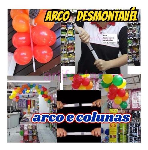 arco desmontavel 1+2 base plastica decoração c/balões+brinde