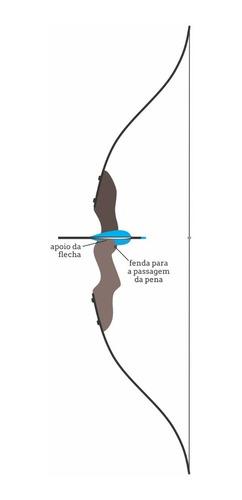 arco e flecha artesanal de madeira + 4 flechas de brinde