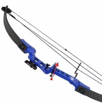 arco e flecha composto vixion sniper 29 lbs blue cb30 bl