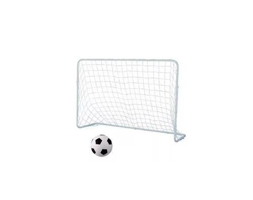 arco futbol infantil metal desarmable + pelota estacas playa