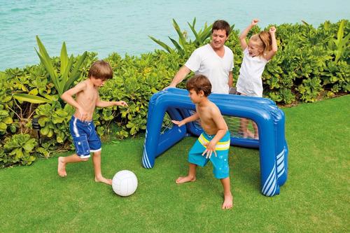arco inflable para fútbol o waterpolo intex 58507 c/ pelota