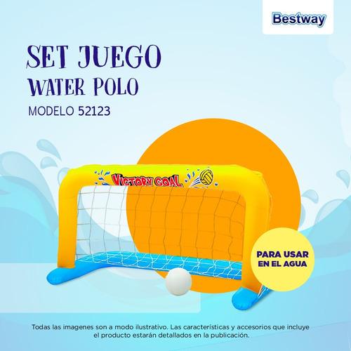 arco inflable water polo pileta bestway con pelota 52123 pc