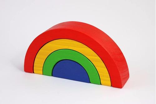 arco iris de madera 4 piezas waldorf montessori lc