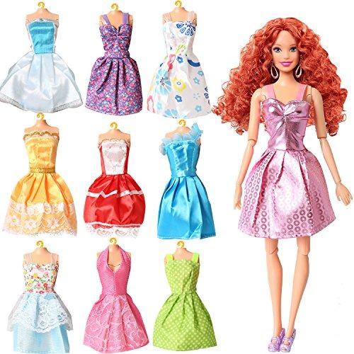 Arco Iris Hecho A Mano Vestidos Para Muñeca Barbie 9 Unida