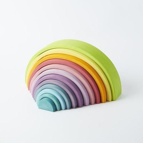 arco iris pastel 12 piezas ancho madera montessori / waldorf