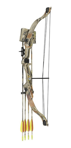 arco mankung camo con poleas 20 libras de poder + 2 flechas