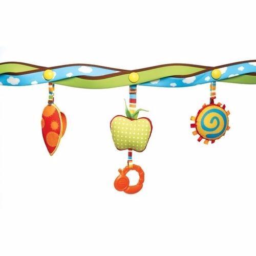 arco mobile chocalho de bichos maçã espelho tiny love bb005
