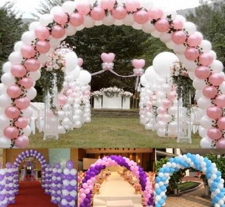 arco p/ balões bexigas de ferro desmontávelpratico e fácil