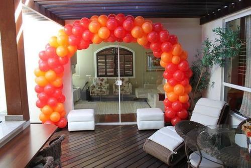 arco quadrado desmontável de balões + base suporte $$$