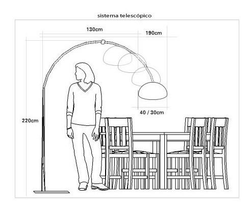 arco telescópico para armar lámparas arco grandes xl