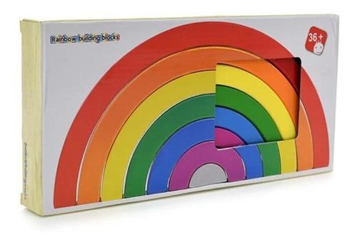 arcoiris 7 arcos finos didáctico estilo montessori/waldorf