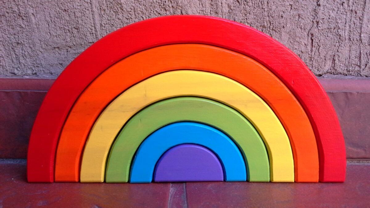 Arcoiris De Madera Waldorf Encastre Juegos Didacticos 470 00