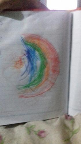 arcoiris pintado por guillermina