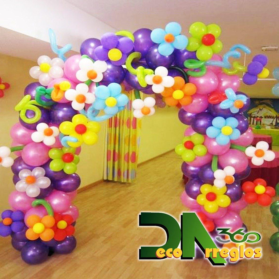 Arcos columnas marcos para fotos y cascadas de globos - Decoracion de marcos para fotos ...