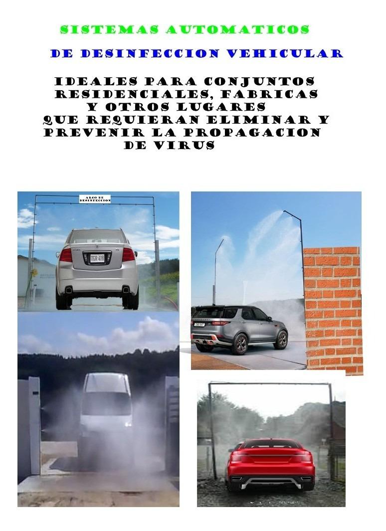 arcos de desinfección vehicular automatico o manual
