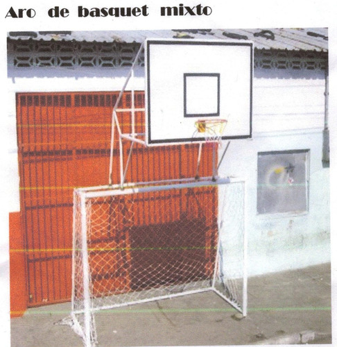 arcos mixtos con tablero de basquet