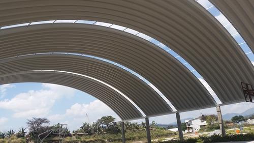 arcotecho, techo sin estructura, techo autosoportante,