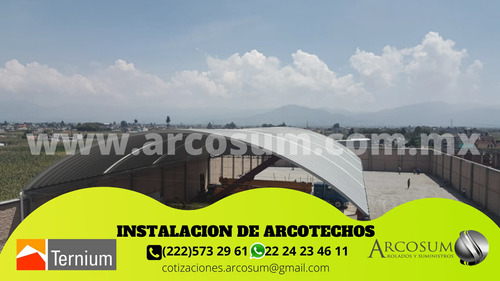 arcotechos,cubiertas metálicas,techos autosoportantes,curvos