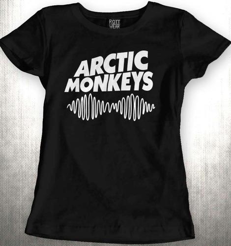 arctic monkeys blusa dama   rott wear