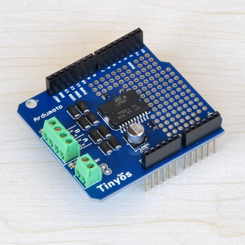 arduino ardumoto l298p motor driver shield avr/lpc/stm32
