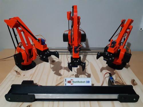 arduino brazo robotico robot educativo investigación kit 2 full natrobot3d