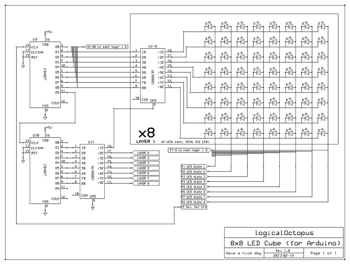 arduino cubo led 8x8x8    5x5x5    3x3x3 projeto completo
