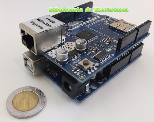 Arduino ethernet shield conexión web lan internet chat