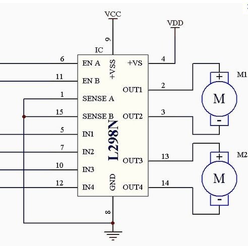 arduino l298 h-bridge motor driver board 2a
