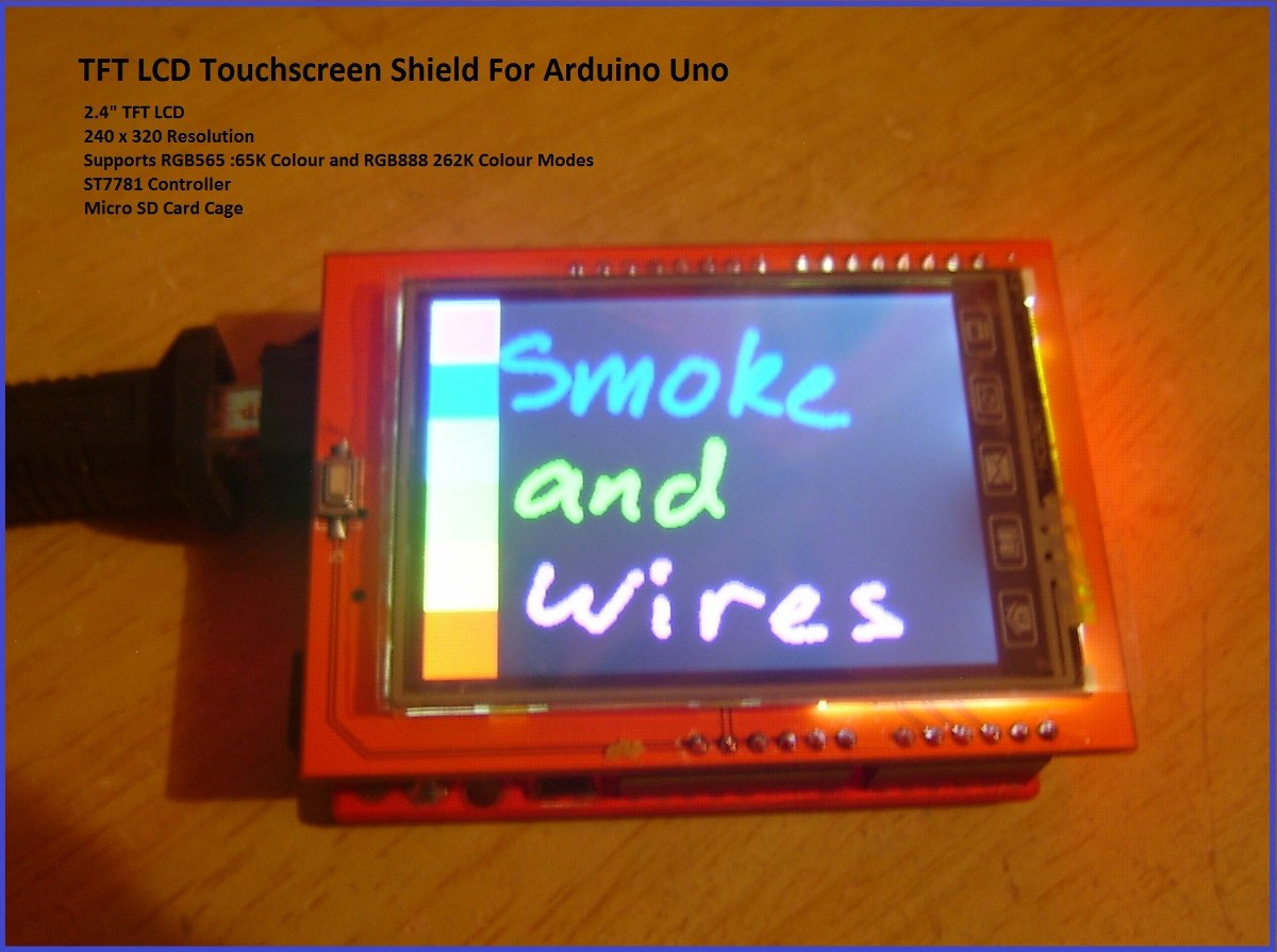 Arduino lcd tft de con slot sd y touch screen
