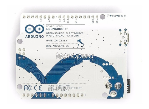 arduino leonardo r3 atmega32u4 con cable usb - made in italy