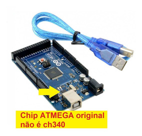 Arduino Mega 2560 Chip Original Atmel Cabo Usb Não É Esp8266