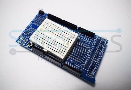 arduino mega protoshield incluye protoboard 100% garantizado