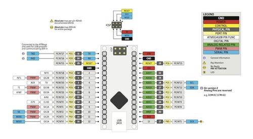 arduino nano atmega328 basado en ch340 compatible
