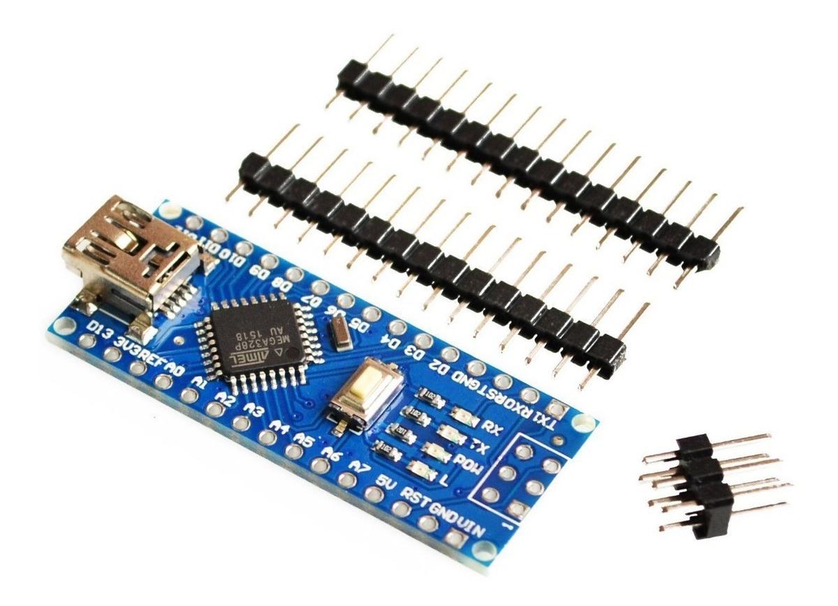 98d3331b3b0 arduino nano v3.0 atmega328 compatible usb con ch340 nubbeo. Cargando zoom.