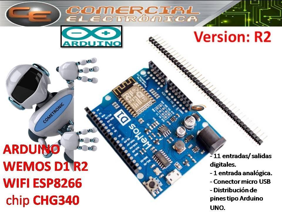 Arduino Placa Desarrollo Wemos D1 R2 Esp8266 Wifi Chip340